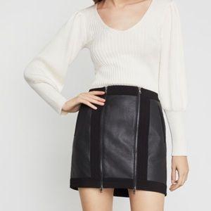 BCBGMaxazria black faux leather roxy mini skirt